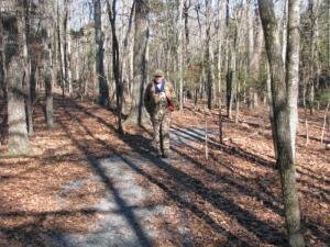 Bob Hartmann in the woods