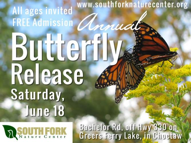 2016 Butterfly Release South Fork Nature Center Greers Ferry Lake2