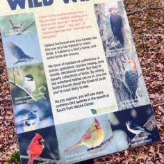 south Fork Nature Center Greers Ferry Lake AR - Bird Marker