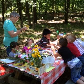 Clinton Kindergarten Students at the Nature Center