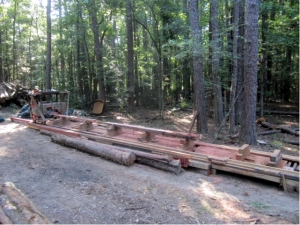 Portable Sawmill at South Fork