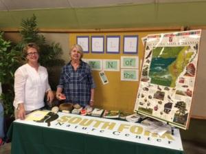 Krissi Graham and Glenda Hall at South Fork Nature Center Booth, VBC Fair 2015