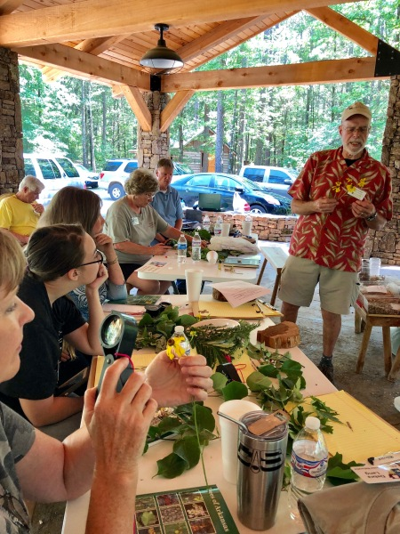 Dr. Culwell visits with Master Naturalists at South Fork