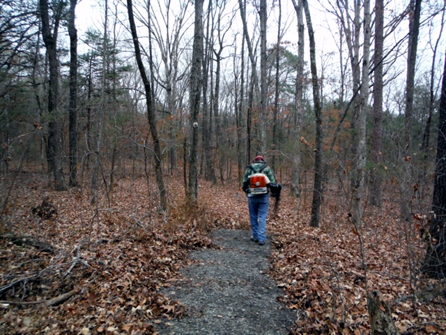 South Fork Trail Maintenance - Leaf Blowing2