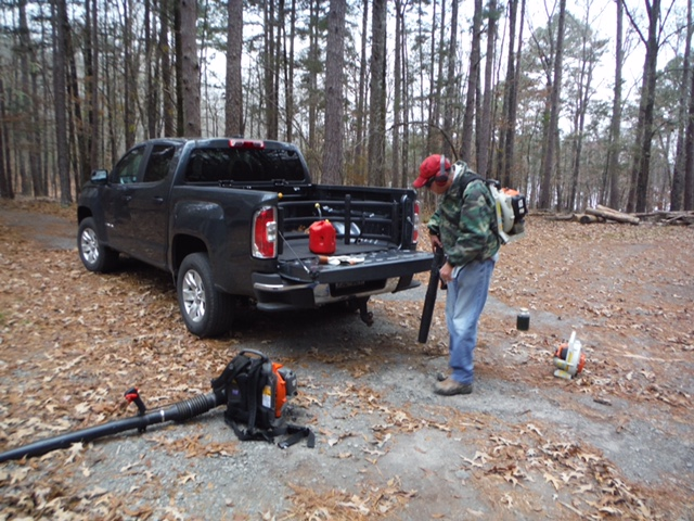 South Fork Trail Maintenance - Leaf Blowing